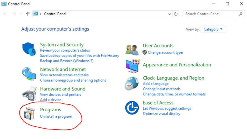 Uninstall Webroot SecureAnywhere Internet Security in Windows 10 PC/laptop